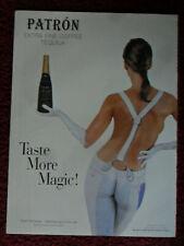 1999 Print Ad PATRON Tequila ~ Sexy Girl Karen McDougal Body Paint Painted Pants