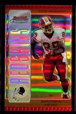 2005 Bowman Chrome Bronze Refractor Santana Moss #97 #D 89/150 JERSEY NUMBER