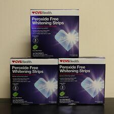 (3) CVS Peroxide-Free Whitening Mint Strips Sensitive 14 Treatments 28 Strips x3