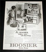 1921 OLD MAGAZINE PRINT AD, HOOSIER CABINET HELPS YOU ALL DAY LONG, SAVES STEPS!