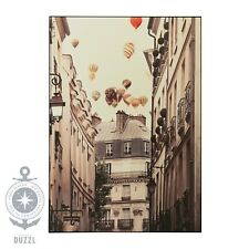 "IKEA VILSHULT Bild mit Rahmen ""Flug über Paris""; (140x100cm) Wandbild Dekoration"