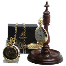 JOHNNY CASH Signed Autographed GOLD Pocket Watch and Luxury Wooden Display Stand
