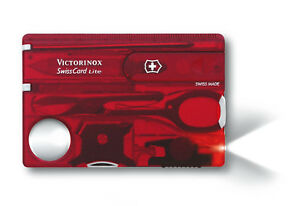 VICTORINOX SWISSCARD ROUGE LITE 13 fonctions 0.7300.T carte suiss army red