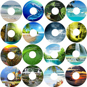 16 CD Natural Relaxation Collection Help Sleep Stress & Anxiety Relief Healing