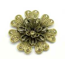 30 Bronze Tone Filigree Flower Wraps Connectors Embellishment Findings 39x39mm