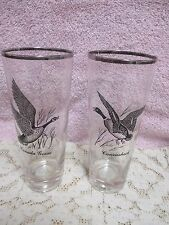 Federal Glass Canada Goose Canvasback  Set of 2 14-oz Glass Tumblers Vintage