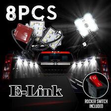 8pcs 48 LEDs Truck Bed White LED Lighting Light Kit For Chevy Dodge GMC Trucks