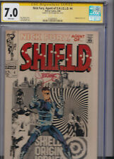 NICK FURY Agent of SHIELD #4 CGC 7.0 SS SIGNED STERANKO WHITE pages 1969 ORIGIN