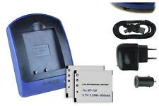 2 Batteries + Chargeur USB BN-VG212 pour JVC Everio GZ-V500, V505, V515