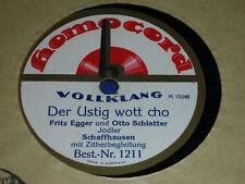 LP 78 HOMOKORD fritz EGGER otto SCHLATTER schaffhausen