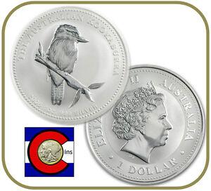 2005 Australia Kookaburra 1 oz. Silver Coin - BU direct from Perth Mint roll