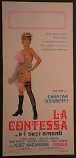 Locandina LA CONTESSA...E I SUOI AMANTI 1972 CHRISTINE SCHUBERTH,  TONIO MEDEN
