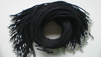 "Wholesale Black 10 Pcs String Suede Leather Strip 20"" 50cm Necklace Cords"