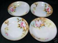 Hand Painted NIPPON Berry Bowls Lot of 4