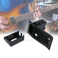 New 7545R Electric Guitar Equalizer EQ Piezo Pickup Cover 9V Battery Case Black