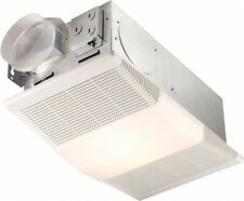 Bathroom Exhaust 70 CFM Fan 1300-Watt Heater 100-Watt Light Ventilation Steel