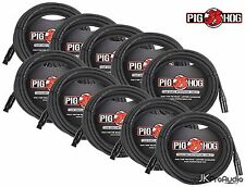 10 PACK Pig Hog 8mm Mic Cable, 20' foot XLR to XLR w/ LIFETIME Warranty PHM20