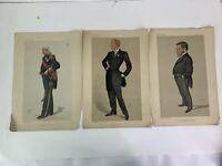Lot 3 VANITY FAIR PRINTs MEN OF THE DAY Admiral Fleet Herbert Beerholm Railway