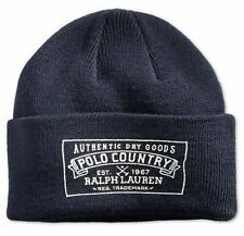 POLO RALPH LAUREN (CUFF BEANIE) DRY GOODS CAP HAT NAVY ONE SIZE NWT NEW FAST🔥