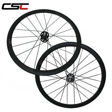 CSC 38mm Clincher fixed gear carbon carbon single speed flip flop wheels