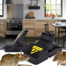 2x Mouse Rat Mice Snap Trap Catcher Humane Rodent Killer Pest Control Reusable
