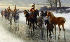 JAN VAN CHELMINSKI Napoléon campagne art toile