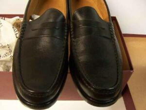 ET Wright Vintage Austin Black Penny Loafer 10.5D Leather In/Out Soles ITALY NWT