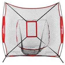 Portable Baseball Softball Practice HittingTraining Net 7x7 w/ Strike Zone & Bag