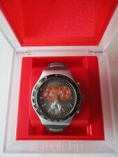 SWATCH IRONY CHRONO ALUMINIUM GET INTO THE RING YCS 4039, NEU