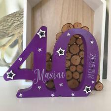 Handmade Number B'thday Anniversary 18,21,30,40,50,60 Freestanding Personalised