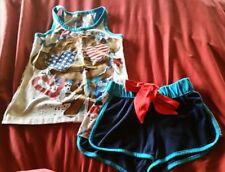 Justice girls pajamas sleepwear 6/7 4th of July tank and shorts pajamas crate 3