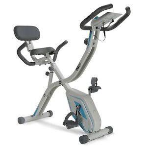 Premium 2-in-1 Folding Fitness Exercise Bike Recumbent & Upright X-Bike & PULSE!
