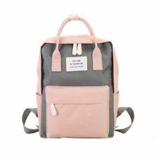 Women Canvas Backpacks Candy Color Waterproof School Bags Teenagers Girls Big
