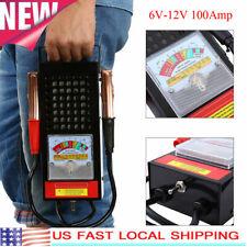 6V-12V 100Amp Car Van Auto Battery Load Drop And Charging System Tester Checker