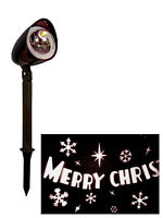Merry Christmas Projector Path Light White LED Xmas Indoor Outdoor Snowflake