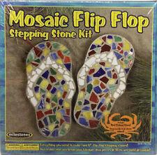 Vintage Milestones Mosiac Stepping Stone Flip-Flop Kit!Awesome For Family Fun