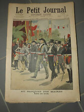 LE PETIT JOURNAL N°516 du  7/10/1900  au banquet des maires