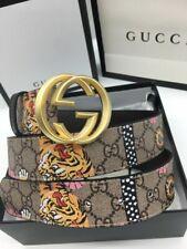 Authentic Gucci  Men's pink color Tiger Belt  size 100/40 fits 36-40 waist