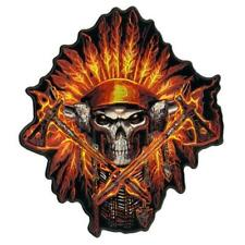 FIRE HEADDRESS CHIEF AXES JACKET BACK PATCH JBP71 EMBROIDERED SKULL  NEW