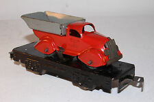 1930's Marx Pressed Steel Airflow Dump Truck, O Gauge Train Load, Original