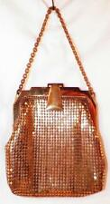 Whiting Davis Mesh Purse Gold Evening Bag Latch Clasp Vintage Small Nice #3