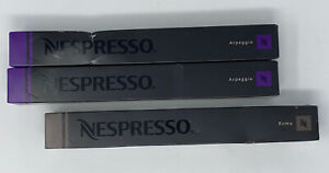 Nespresso Mixed Lot Of 3 Sleeves (30 Pods) Arpeggio & Roma New Sealed *EXP 2017*