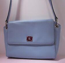 Lauren Ralph Lauren Sky Blue Leather Crossbody Bag