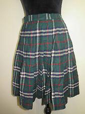 Genuine Burberry Green Check Mini Skirt Size XS UK 6 Euro 34