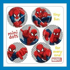 96 Spiderman Dot Stickers (16 Sheets) Party Favors