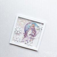 Stanzschablone Rahmen Schneeflocke Weihnachts Hochzeit Geburtstag Karte Album