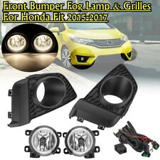 For Honda FIT 2015 2016 2017 Pair Front Fog Light Lamp +Switch Harness Cover Kit
