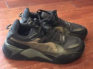 Puma 370522 03 Mens RX-S Winterized Black Army Green Casual Shoe Sz 8.5