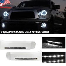 For 2007-13 Toyota Tundra LED Bumper Built-In DRL Fog Light Daytime Driving Lamp