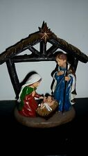 "Beautifully Painted CHRISTMAS NATIVITY ORNAMENT New APPROX 3"" Tall"